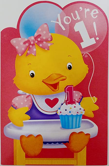 Amazon Youre 1 Happy 1st Birthday Greeting Card For Girl