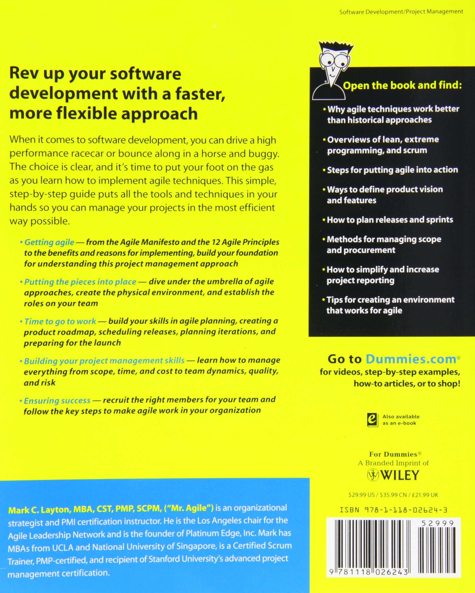 Agile Project Management For Dummies Amazon Mark C Layton