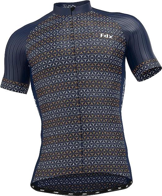 FDX Maglia da ciclismo a mezza manica in tessuto traspirante HiViz