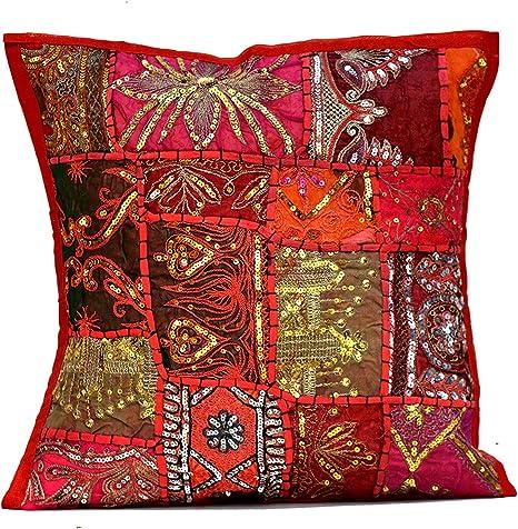 Cachemires motifs ethnic cushion cover batik cushion case india