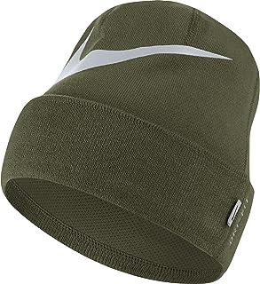 Nike – Berretto da Uomo Swoosh Cuffed, Olive Canvas/Pure Platinum, Taglia Unica 876501