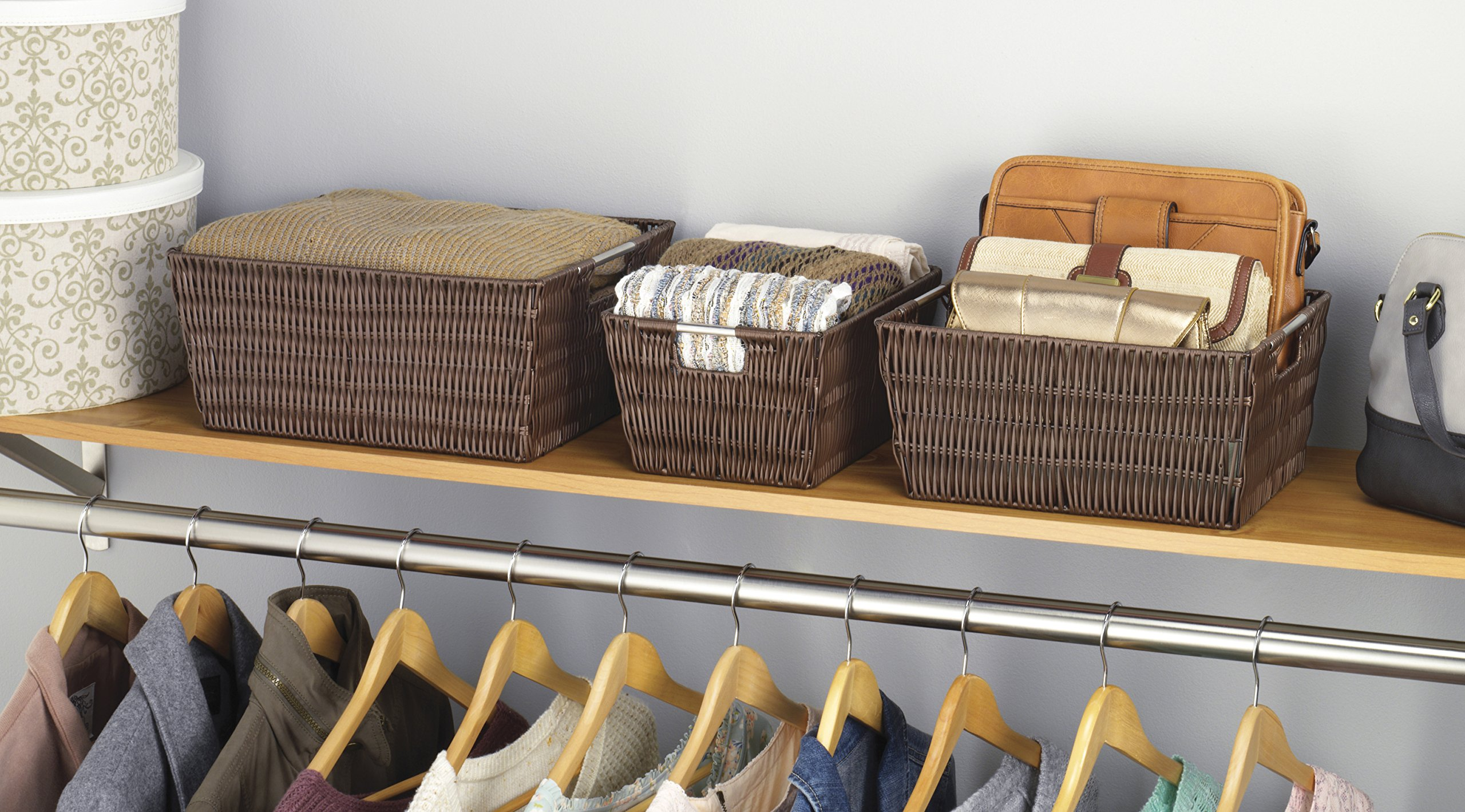 Whitmor Rattique Storage Baskets Set of 3 Java - 6500-1959-JAVA u003c Baskets Bins u0026 Containers u003c Home u0026 Kitchen - TIBS & Whitmor Rattique Storage Baskets Set of 3 Java - 6500-1959-JAVA ...