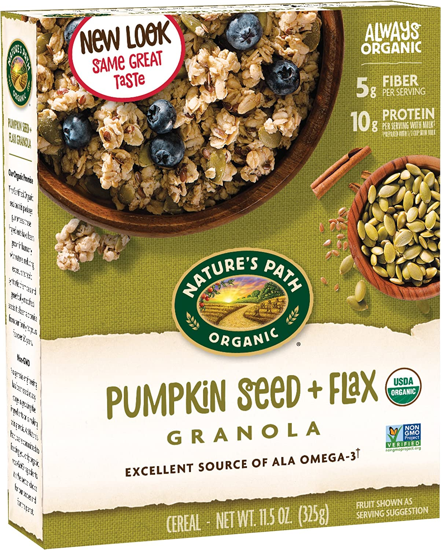 Natures Path Organic Flax Plus Pumpkin Granola Cereal, 11.5-Ounce ...