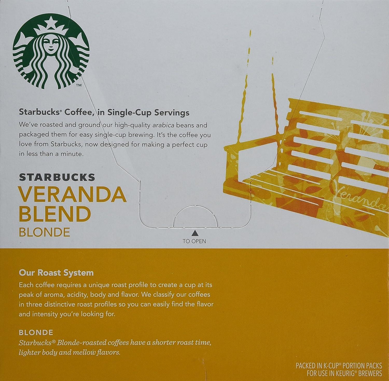 Starbucks Veranda Blend Blonde Roast Keurig K-Cups (32 Pack): Amazon ...