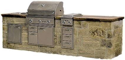 Amazon.com: Outdoor kitchen island kit - Delta Straight 10 ...