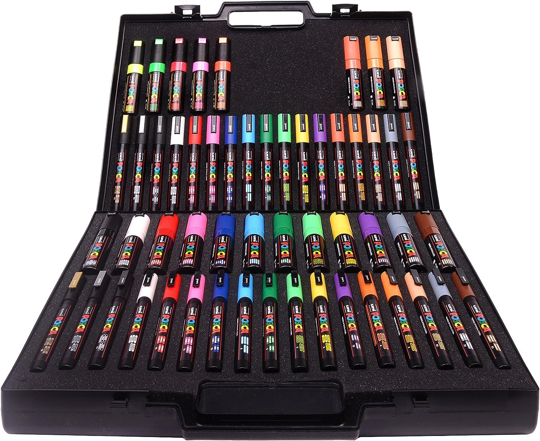 Posca 153544860 - Rotulador con puntas y colores surtidos (54 ...