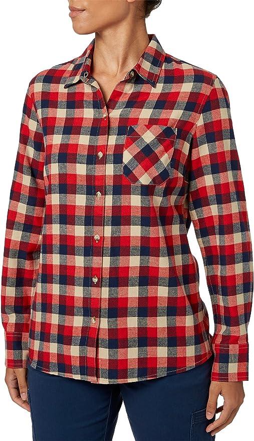 Campo y arroyo de la mujer Classic ligero camisa de manga larga de franela, Medium, Willo Wht Pepp: Amazon.es: Deportes y aire libre