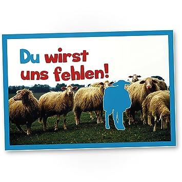Te nosotros Faltar (Ovejas) - Plástico Cartel como tarjeta ...