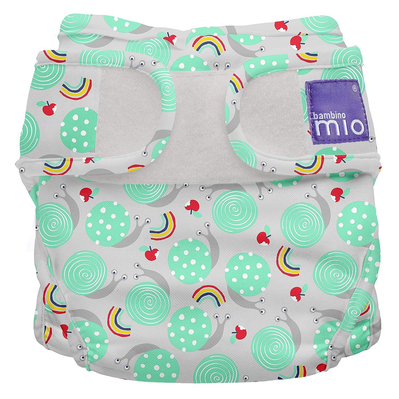 Size 1 Snail Surprise Miosoft Reusable Nappy Cover Bambino Mio 9kgs