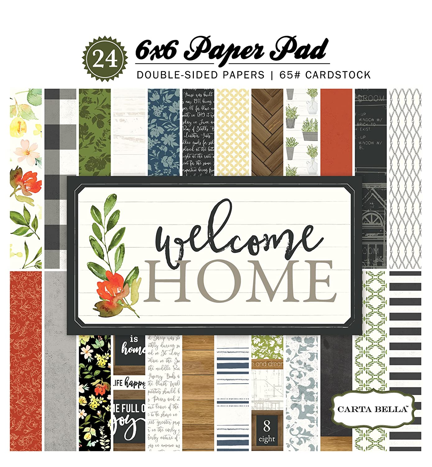 Carta Bella Paper Company Welcome Home 6x6 Paper Pad Echo Park Paper Company CBWHO74015