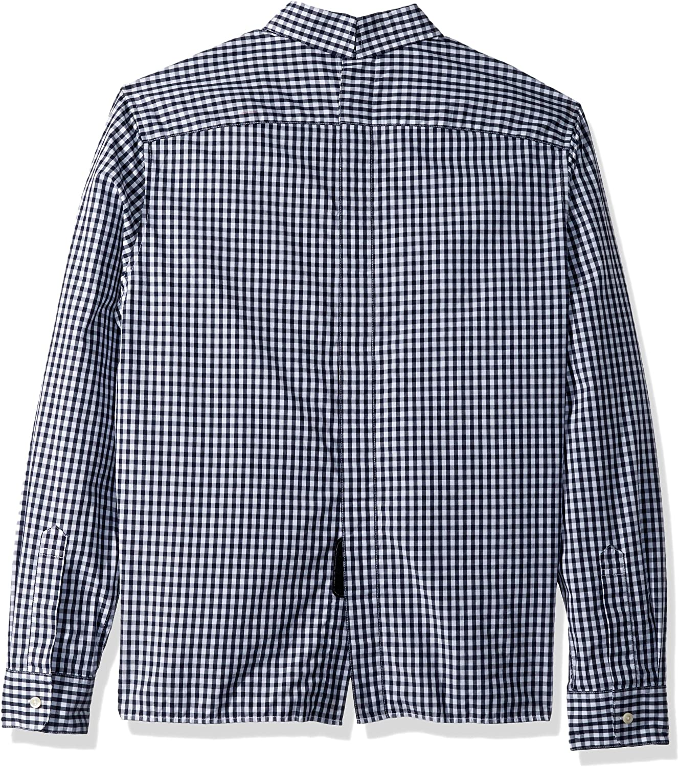 Tommy Hilfiger Mens Adaptive Seated Fit Magnetic Button Shirt with Touch Fastener Back
