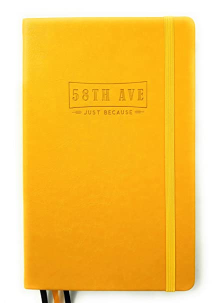 Planner - Dot Grid red Collection Here 58th Ave Bullet Journal Executive Notebook