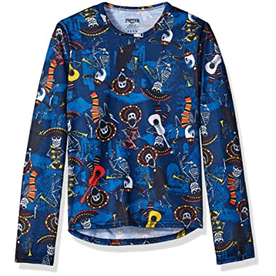 Hot Chillys Youth Pepper Skins Print Crewneck, Mariachi-Navy, Medium