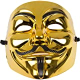 Annonymous Vendetta Mask - Gold or Black (Gold/Black)