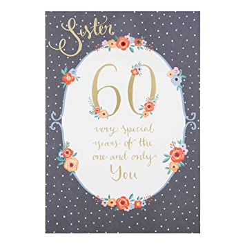 Image Unavailable Not Available For Color Hallmark Sister 60th Luxury Birthday Card