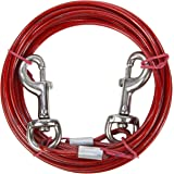 Dog Tie Out Cable with Storage Bag 15ft (4.5m) (Red)