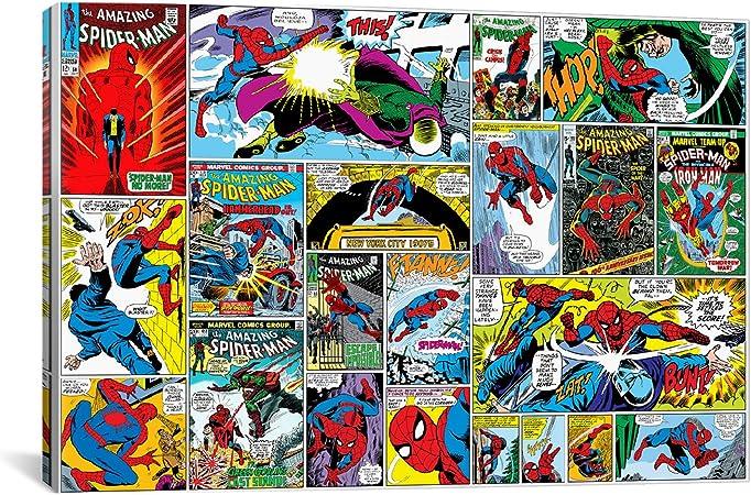 iCanvasART cómics de Marvel Spider-Man Covers y paneles de Marvel Comics Impresión de Lienzo: Amazon.es: Hogar