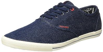 JACK  JONES Herren Jjspider Canvas Sneaker Blue
