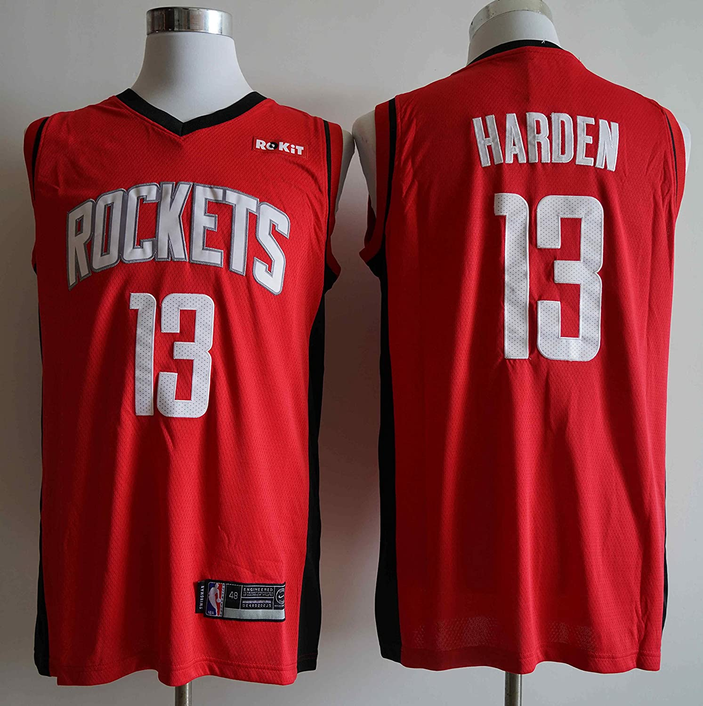 canottejerseyNBA James Harden Houston Rockets #13 Basket Maillot d/ébardeur Swingman brod/é V/êtements de Sport