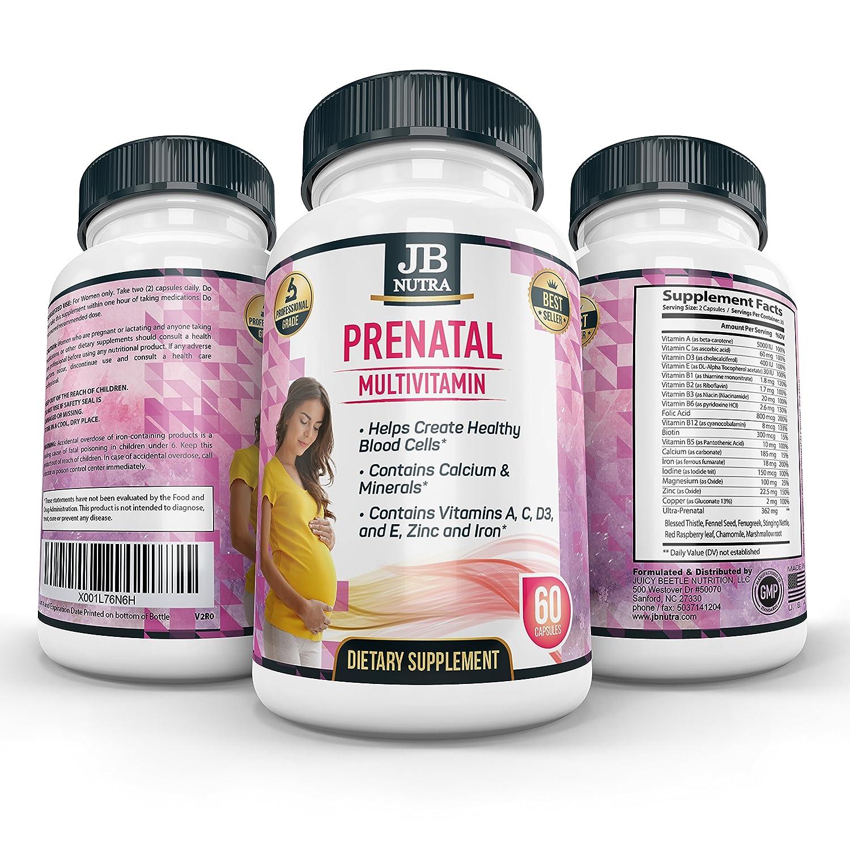 Amazon.com: Prenatal Multivitamins Fórmula con ácido fólico ...