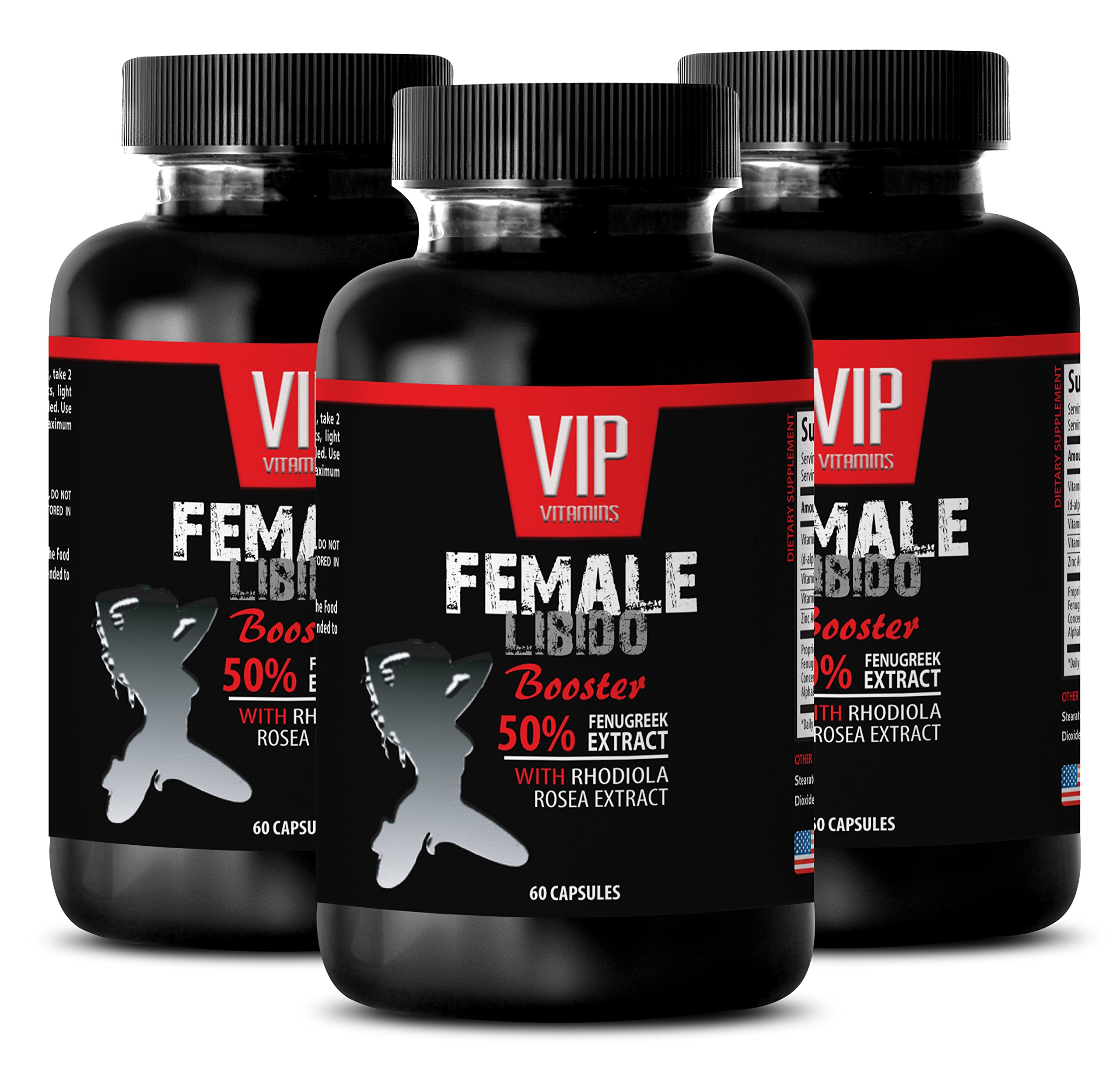 Boost Sex Drive for Women - Female LIBIDO Booster - Fenugreek 180 Capsules - 3 Bottles 180 Capsules
