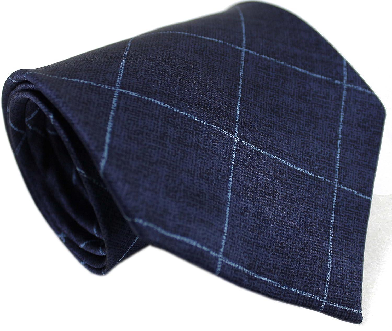 Rotfuchs Corbata de seda corbata hecha de 100% seda azul oscuro ...