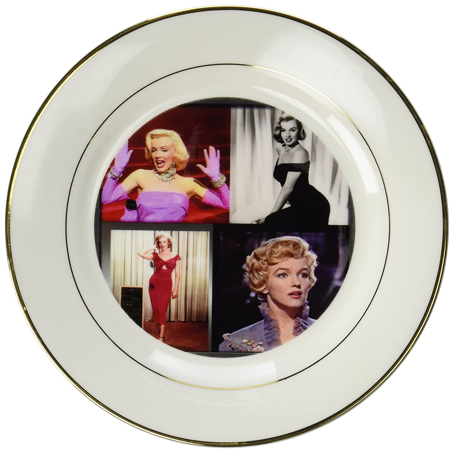 3dRose cp/_107180/_1 Marilyn Monroe Collage-Porcelain Plate 8-Inch
