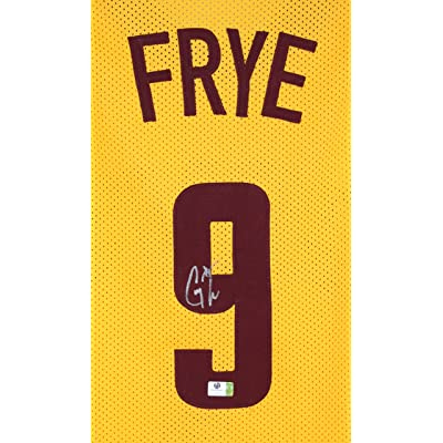 8614eceaa8eb Channing Frye Cleveland Cavaliers Signed Autographed Yellow  9 Cavs Jersey  Witnessed COA