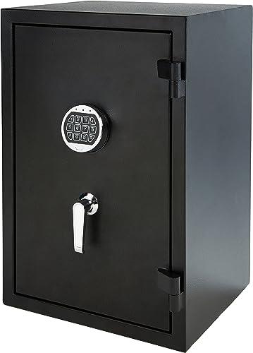 AmazonBasics Fire Resistant Box Safe, 2.1 Cubic Feet – YB-66YLA-F