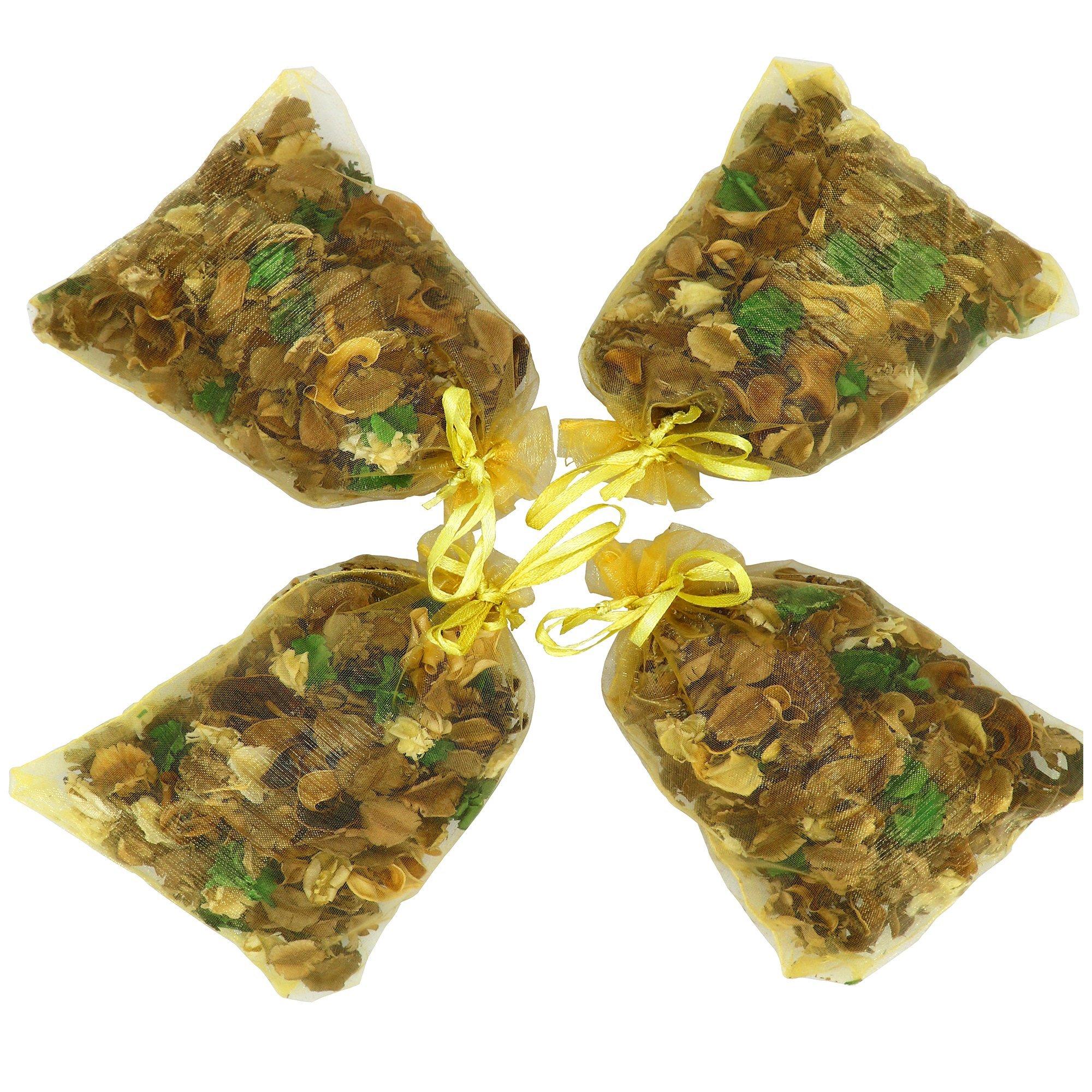 The Ambient Collection Jasmine Scent Potpourri 20 Grams Organza Bag x 4