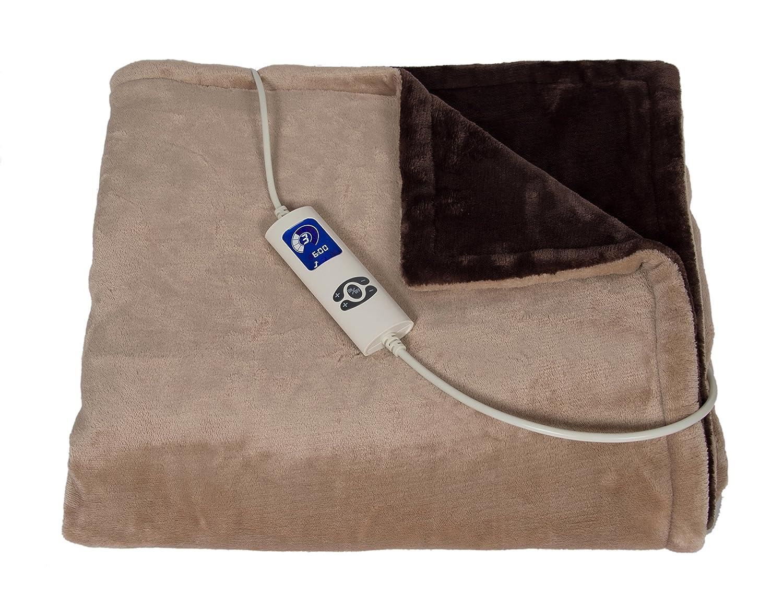 Trebs Heizdecke Fleece 180 x 130 cm, 6 Temperatur-Stufen, Timer, LCD-Anzeige, Überhitzungsschutz, waschbar, grau Überhitzungsschutz 99343