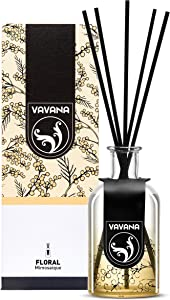 VAVANA Aromatherapy Diffuser Sticks | Reed Diffuser Set | Aromatic Home Fragrance Set | Essential Oil Diffuser Sticks, Made of Natural Scented Oils Blend | Perfect for Home & Office (Mimosaique)