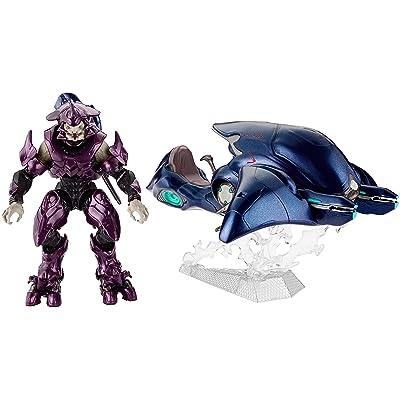 Mattel dnt97–Halo Ghost véhicule avec Elite Officier, jouet d'action