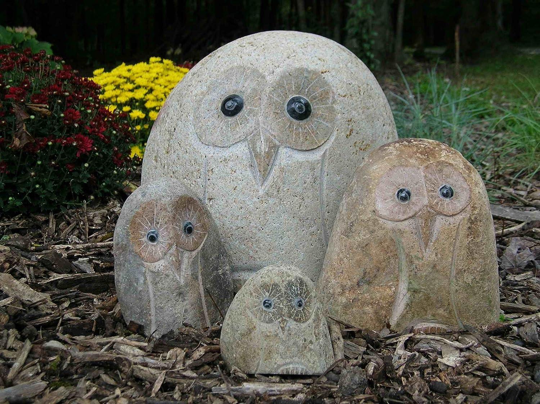 Stone Owl Garden Ornaments Amazon stone age creations an ow 04 decorative stone owl 4 amazon stone age creations an ow 04 decorative stone owl 4 inch garden stone owl garden outdoor workwithnaturefo