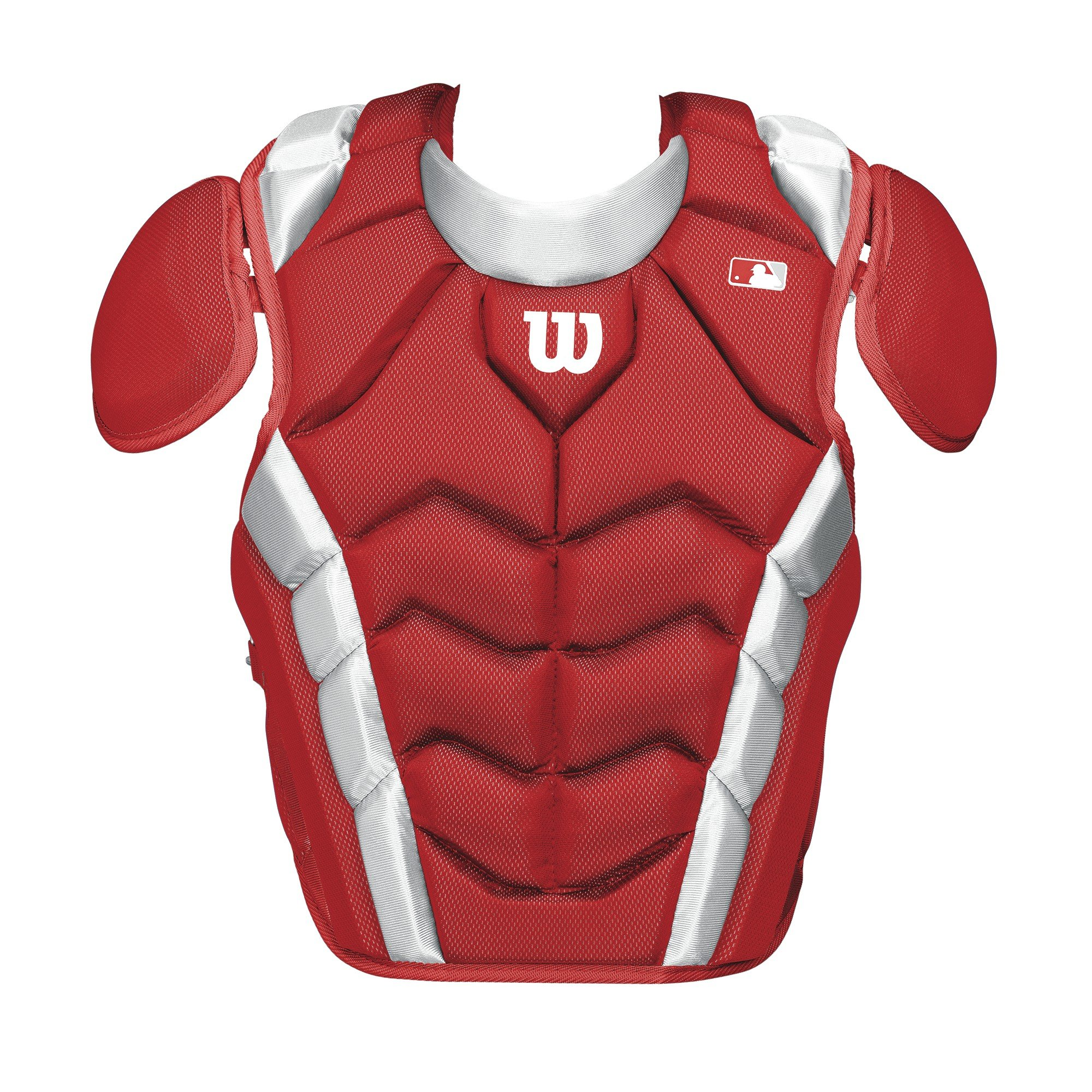 Wilson Pro Stock Chest Protector, Scarlet, 15.5''