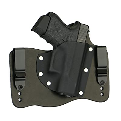 FoxX Holsters Glock 26, 27, & 33 In The Waistband Hybrid Holster Tuckable, Concealed Carry Gun Holster