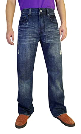 Flypaper Men S Fashion Bootcut Blue Jeans Regular Fit Mens Work