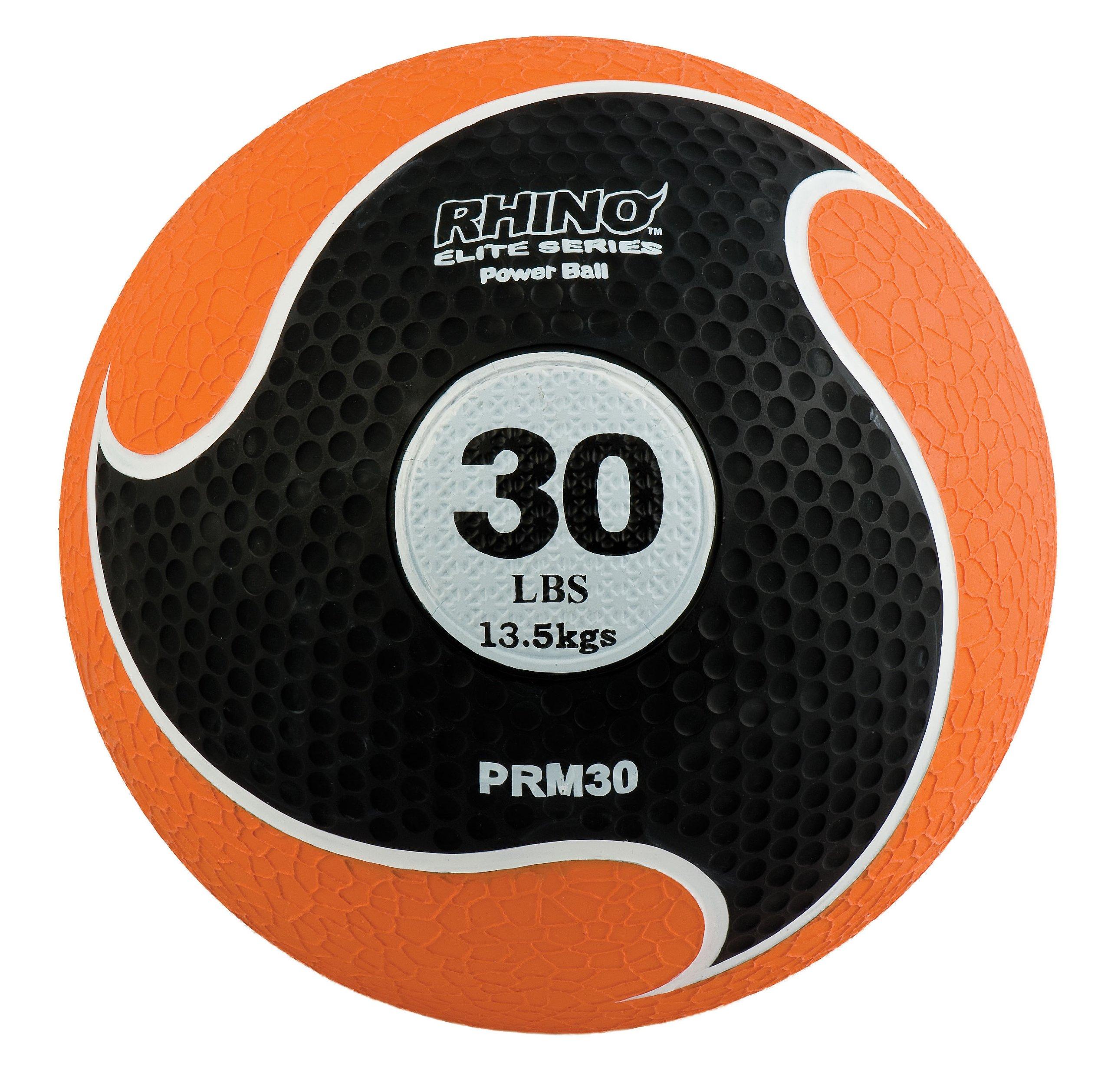 Champion Sports Rhino Elite Medicine Ball (30 pounds), Orange