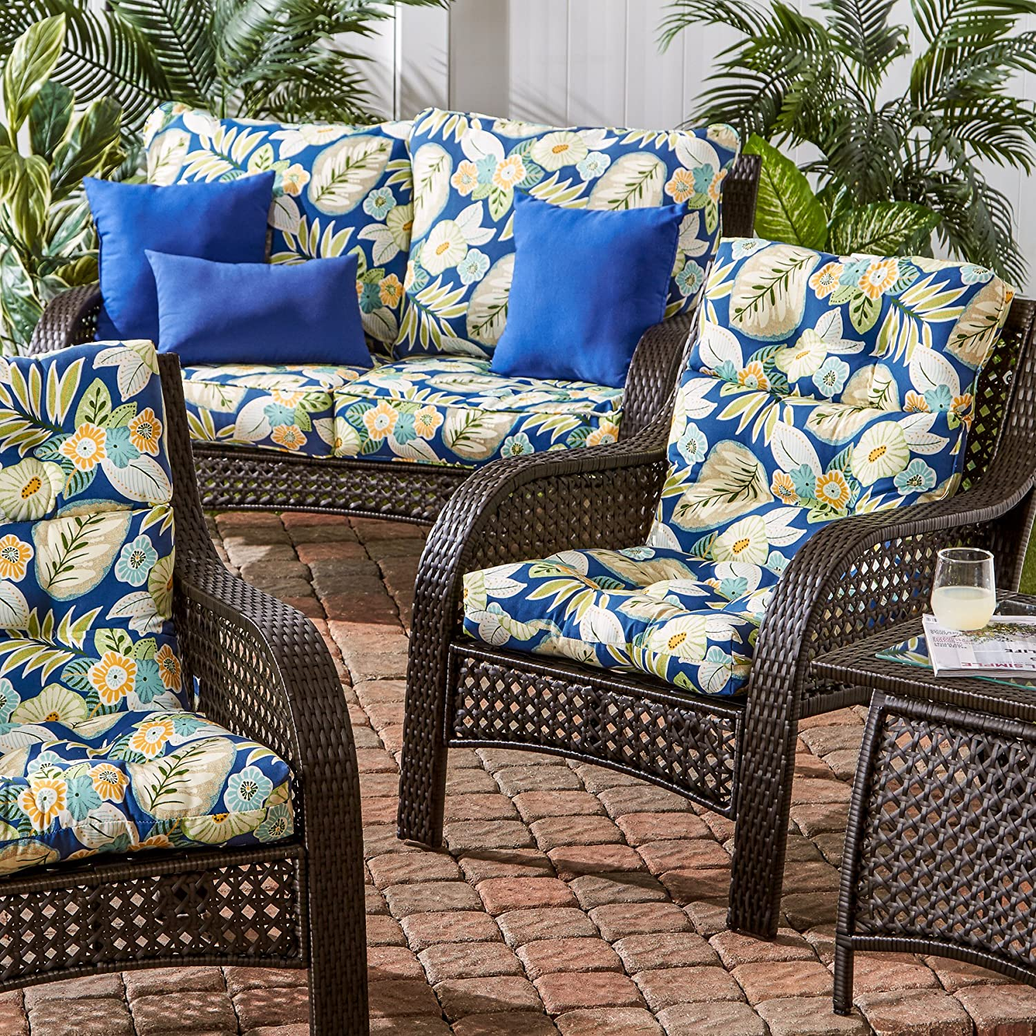 amazon com greendale home fashions indoor outdoor high back