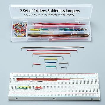 DEYUE 3 Set Standard Jumper Wires Plus 3 Set of Solderless Prototype Breadboard