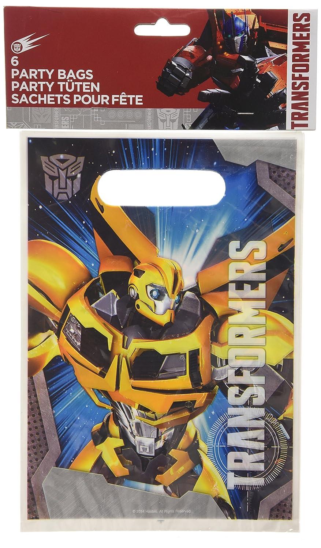 Amscan Transformers Partybeutel/Partytüten–6Stück Amscan International 997766 Fantasy-Charaktere