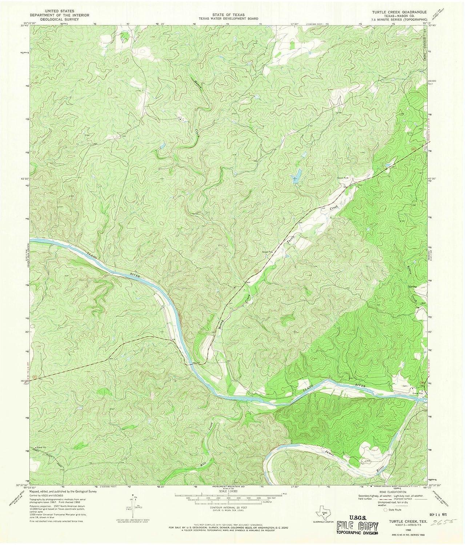 Topographic Map Washington Dc.Amazon Com Texas Maps 1968 Turtle Creek Tx Usgs Historical