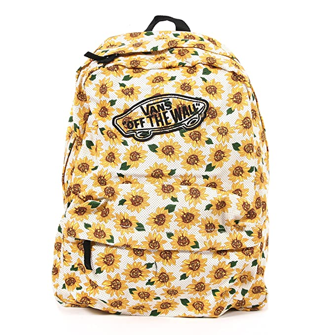 171a99239d Vans Womens Realm Sunflower True White Backpack School Bag  Amazon.ca   Clothing   Accessories