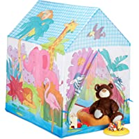 Relaxdays 10024756 lektält djungeldjur, för barnrum, utomhus, från 3, tyg, safari barntält HBT 102 x 72 x 95 cm…