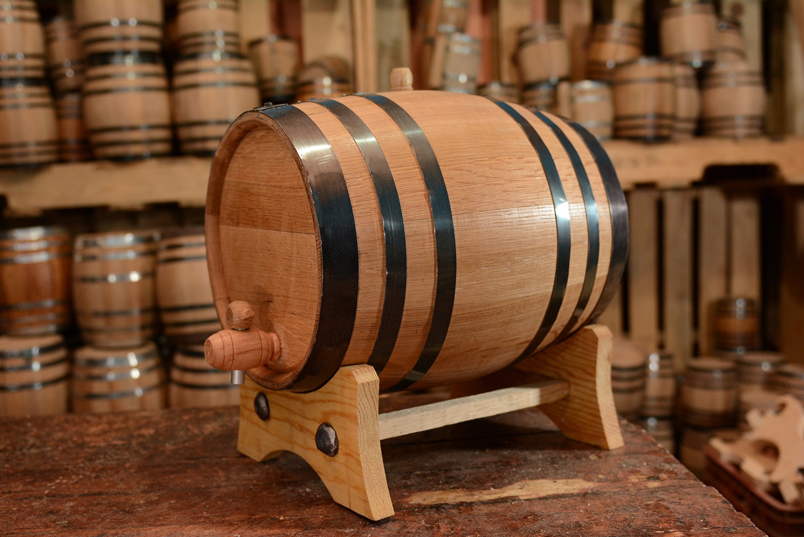 20-Liter American White Oak Aging Barrel | Age your own Tequila, Whiskey, Rum, Bourbon, Wine