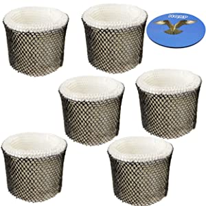 HQRP 6-Pack Filter for Holmes HWF64 HWF64CS HM-1746 HM-1750 HM-2200 HM-1645 HM-1730 HM-1745 Type-B Humidifier Coaster
