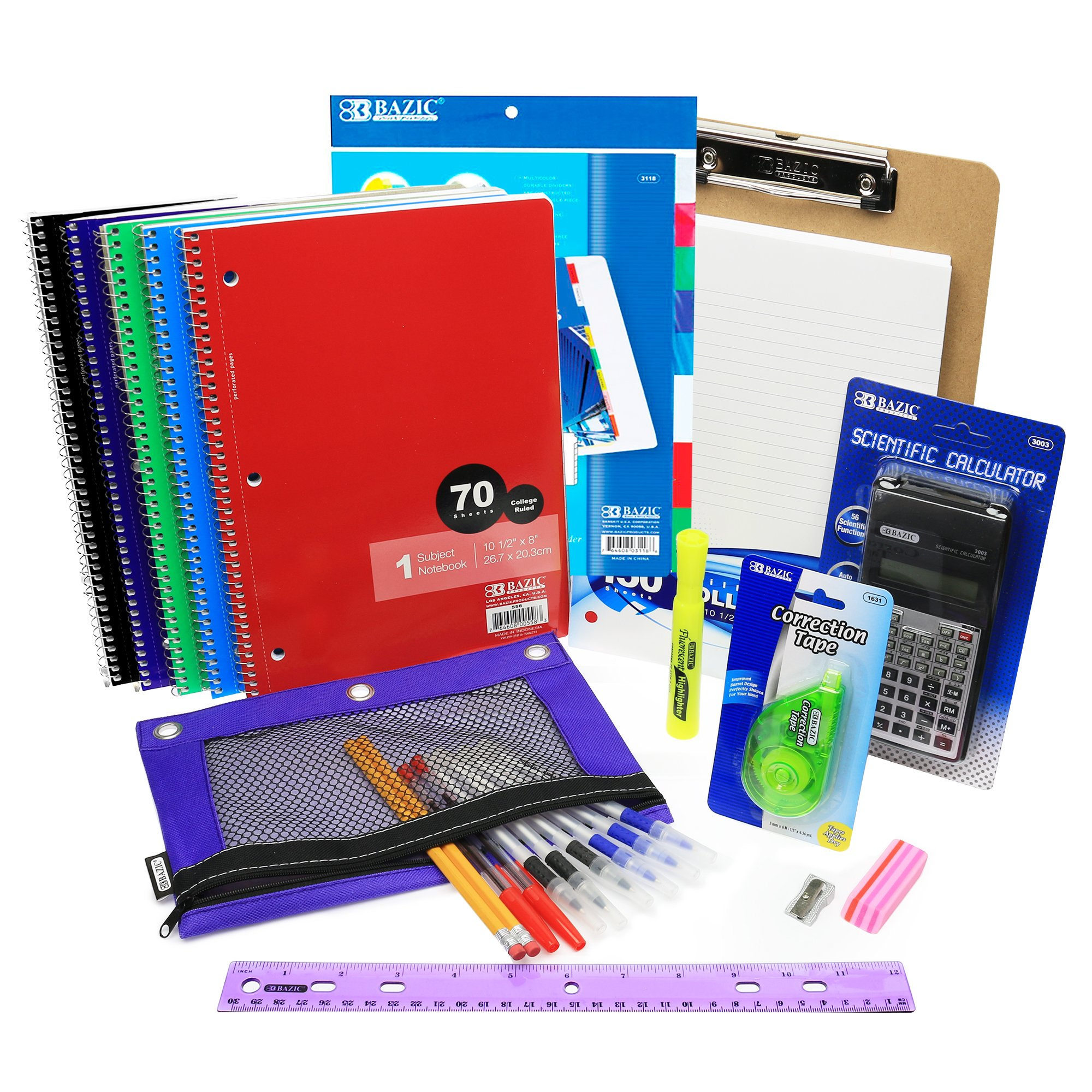 Complete High School and College School Supply Set, All Inclusive Supplies Bundle, High School Supplies Package