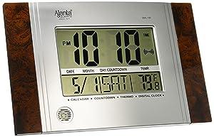 Ajanta Plastic Digital Wall Clock (29 cm x 19 cm x 2.5 cm, Brown)