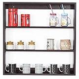 Forzza Donna Multipurpose Wall Shelf (Matt Finish, Wenge)