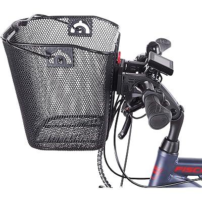 Fischer E- Bike Korb Cesta para Bicicleta eléctrica, Unisex Adulto, Negro, Normal